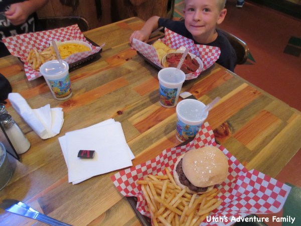 The portions were huge. Our kids had a hard time finishing all this food.