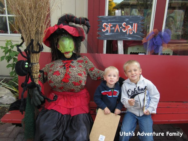 The boys were a little hesitant about sitting so close to a witch.