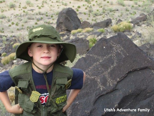 These are the types of petroglyphs you will see on the trails in Petroglyph National Monument.