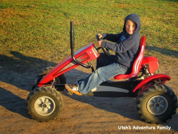 All the kids loved the tractor bikes that you could race around a small dirt track.