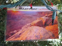 Muley Point Postcard Ornament at the 2016 Monticello Fesival of the Trees