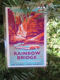 Rainbow Bridge Postcard Ornament at the 2016 Monticello Fesival of the Trees