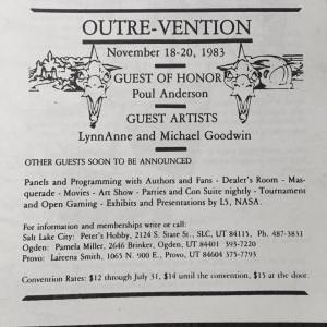 Outre-Vention ad from The Leading Edge 5, sometime between Mar and Oct 1983 (Joe Monson)