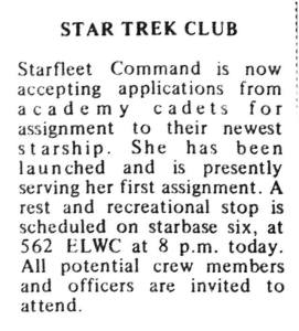 BYU Star Trek Club (1975)