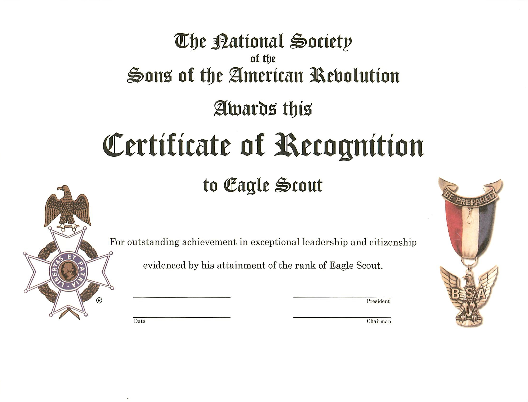 Award Sons American Jrotc Revolution