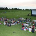 There are movies in the park showing at dusk throughout utah valley