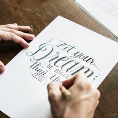 social distancing calligraphy