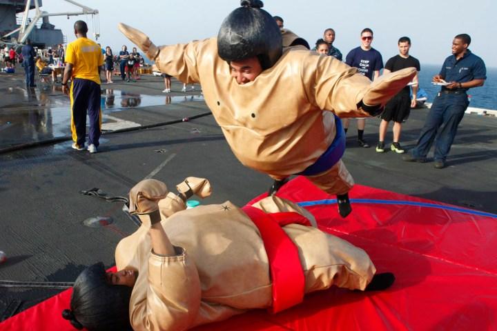 social distancing sumo wrestling
