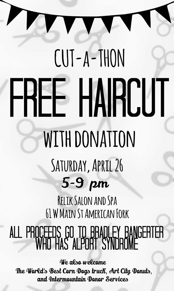Free Haircut with Donation • Utah Valley Moms