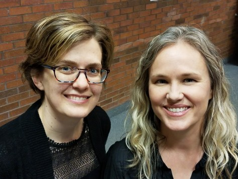 Two of our lovely recitalists, Leslie Richards and Emily Barrett Brown
