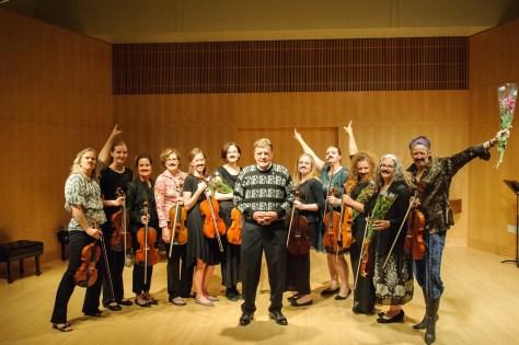 David Dalton with students who performed for Utah Viola Society's Viola Day 2016.