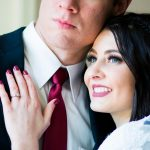salt lake city utah temple wedding couple portrait session