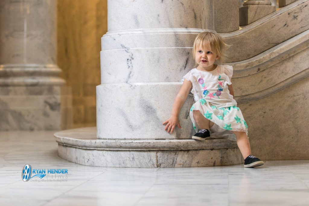 photo shoot inside utah state capitol
