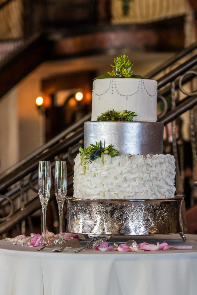 beautiful wedding cake castle wedding venue