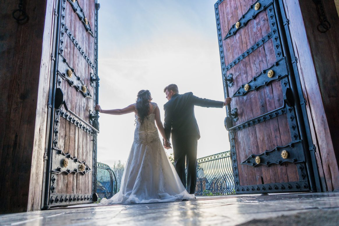 bride and groom castle wedding venue wadley farms utah wedding photography and videography
