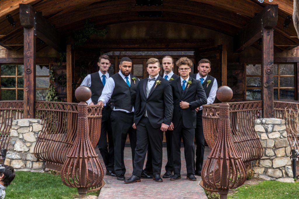 groomsmen groom utah wedding videography and photogrpahy