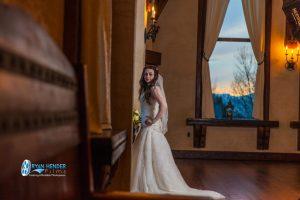 bridal photo shoot at castle utah