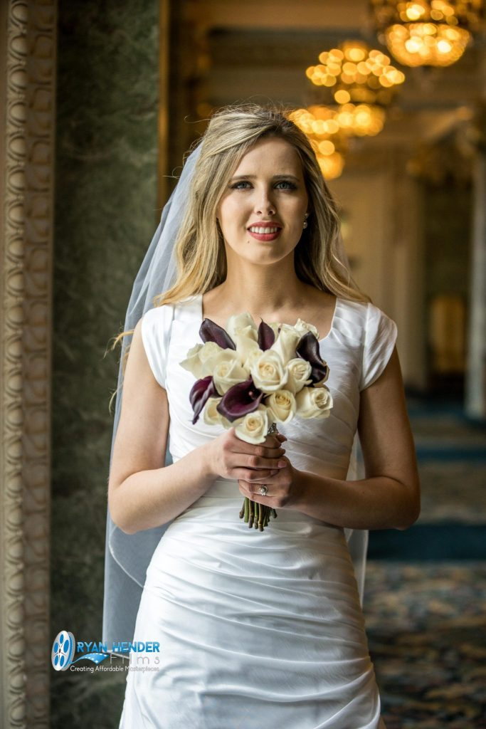 bride holding bouquet photo shoot for her bridals