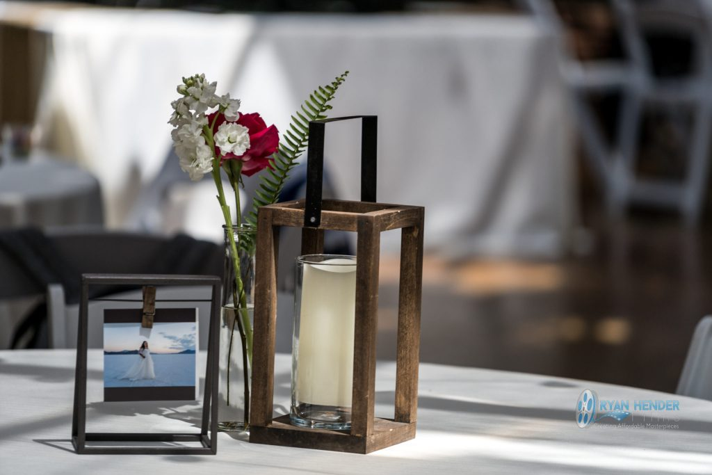 wedding centerpiece utah photograph