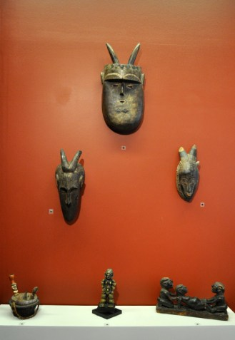 Items from the Department of Art & Art History's African art collection. (Photo by James Dunning/COLA)