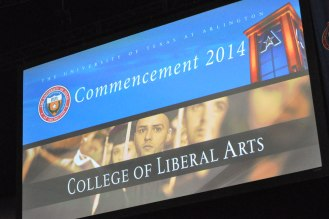 A scene from the College of Liberal Arts' December 2014 commencement Friday, Dec. 12, at the College Park Center. (Photo by James Dunning/COLA Communications)
