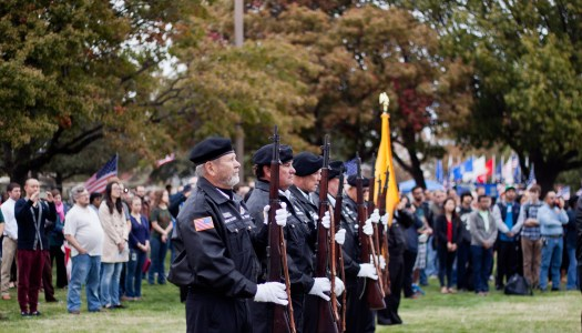 Veterans' wall visits campus