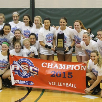Volleyball crowned conference champs