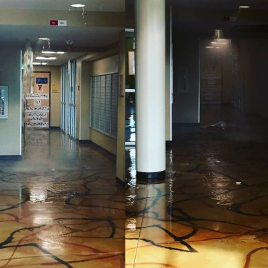 Residence Hall South residents experience flooding, evacuation