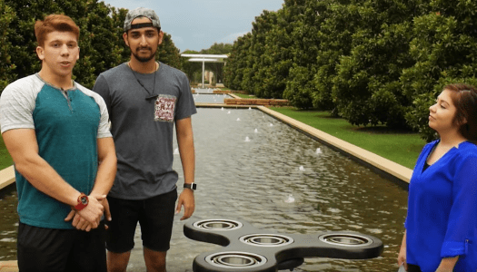 Students build 150 pound fidget spinner at UTDesign Makerspace