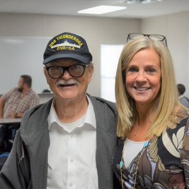 Veteran spreads laughter