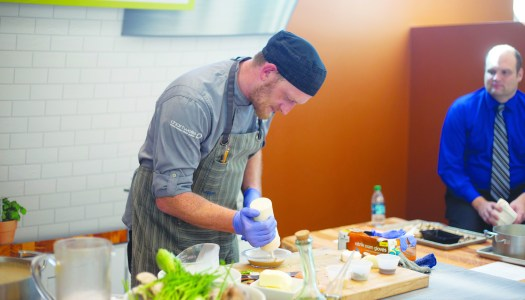 Dining Services offers  interactive cooking lessons