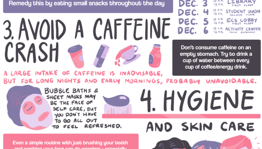 5 self-care tips to keep you healthy and alert for finals week