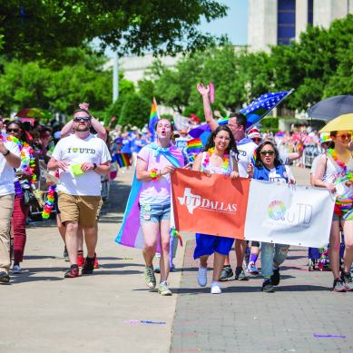 University  students,  faculty  gather  in  Dallas  to  celebrate PRIDE