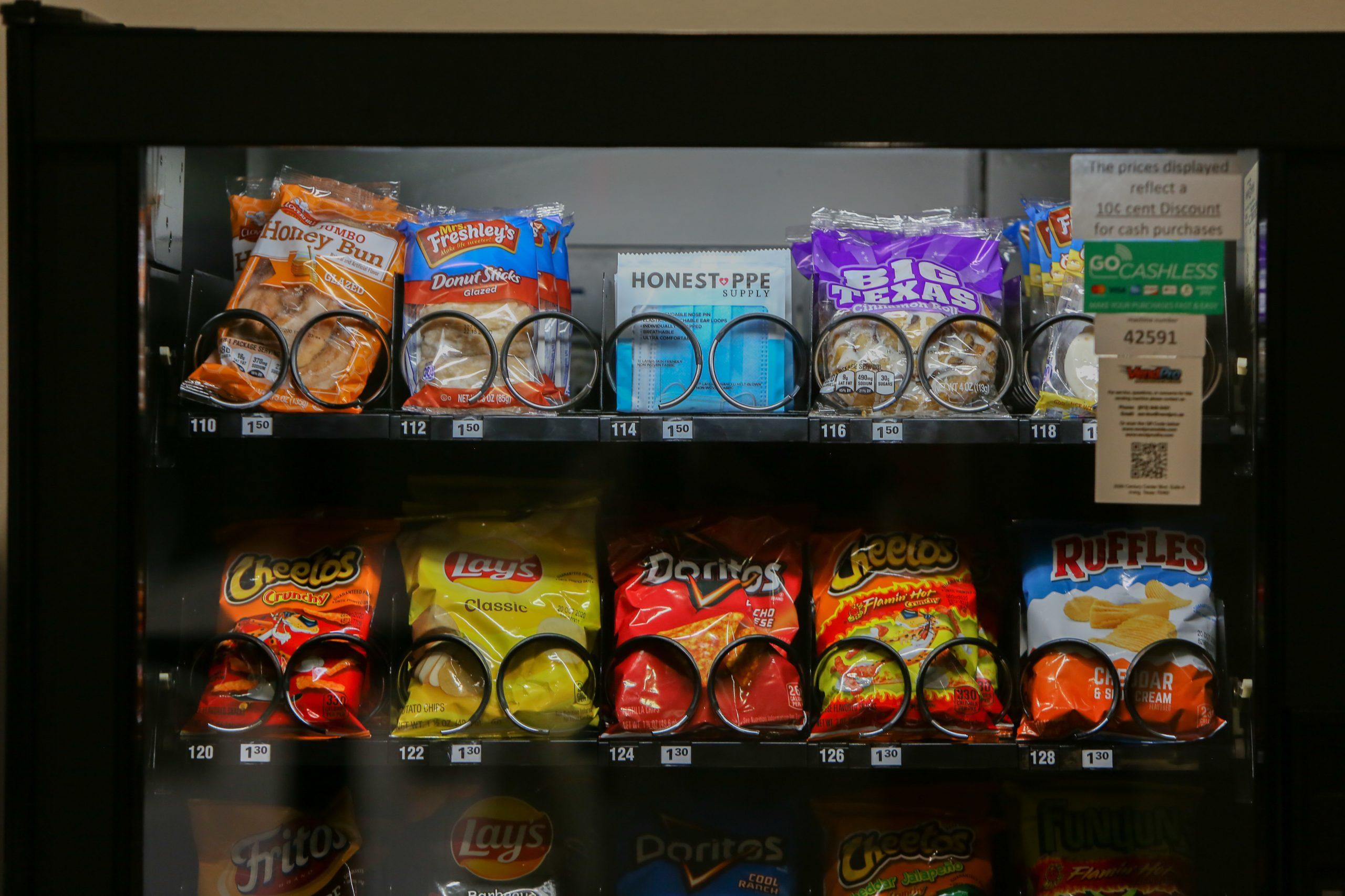 Vending machines offer disposable face masks