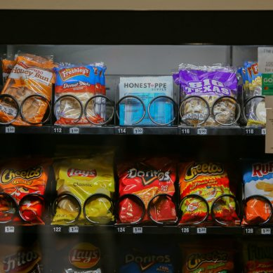Vending machines offer disposable face masks