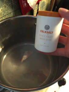 Saltning och uppkokning av förvällningsvatten