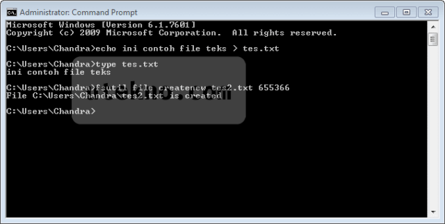 Membuat file lewat command prompt - uTekno