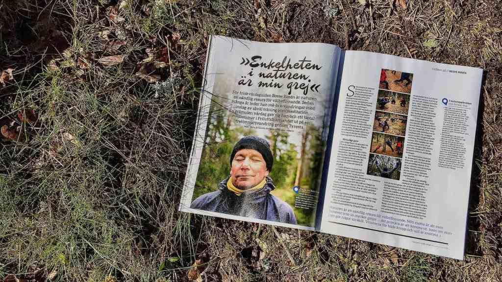 Tidningen Friluftsliv följde med Utemaningen på en vandring i Tyrestaskogen.