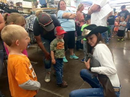 Mutton Bustin Sign ups with 2016 Rodeo Queen Kelly Charles