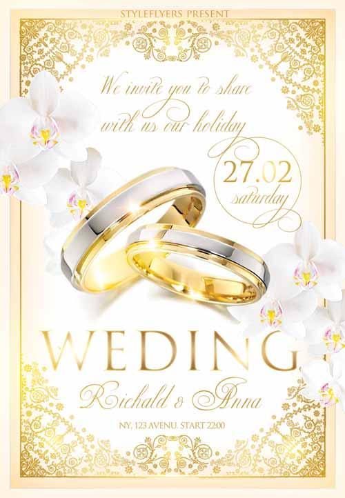 5 Beautiful & Free Wedding Flyers Templates UTemplates