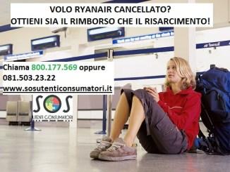 Ryanair volo cancellato