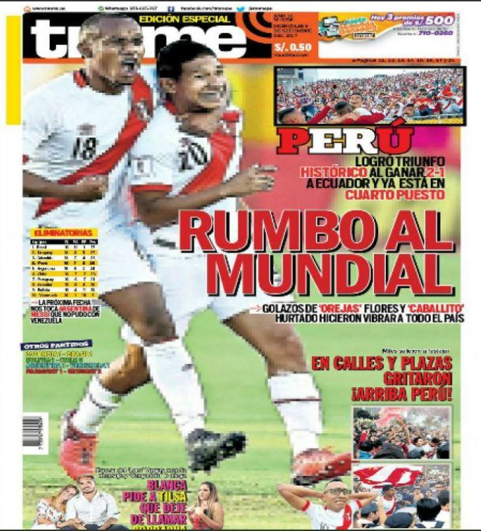 Así Fueron Las Portadas De Los Diarios Del Perú Y Del Mundo Después