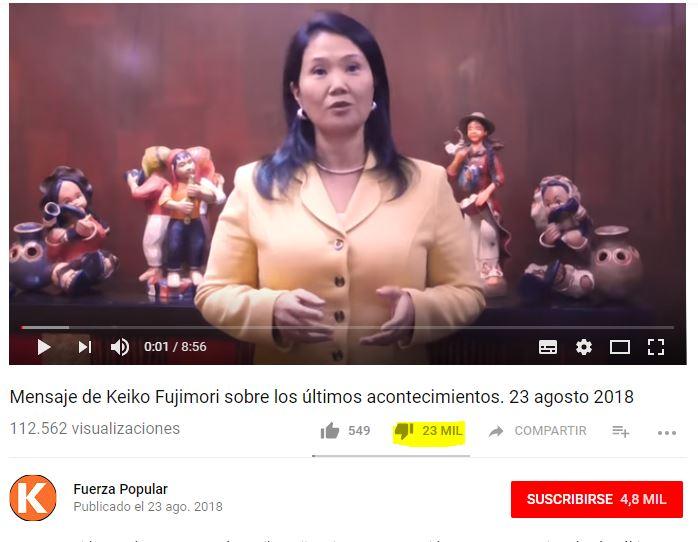 No es fake. Imagen: Canal de Youtube de Fuerza Popular