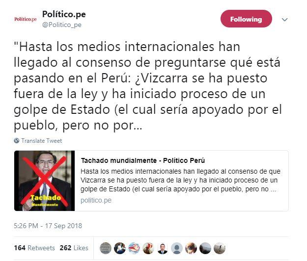Imagen: Twitter de Político.Pe