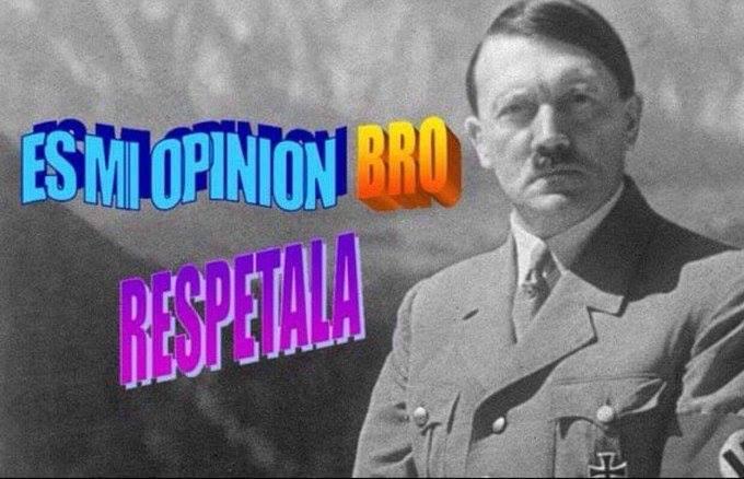 """""""No seas políticamente correcto, bro"""". Foto: Ni idea, pero es un buen meme"""