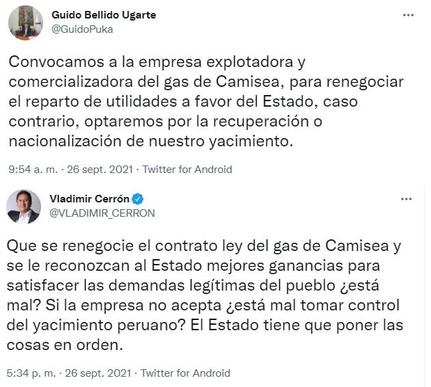 El premier de Cerrón. Imagen: Captura de Twitter