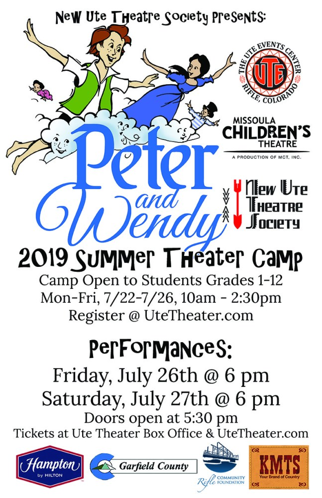 Summer Theater Camp July 22-26, 2019