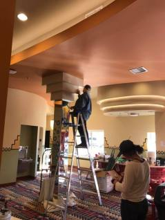 New Ute Theater Society Members Painting Lobby