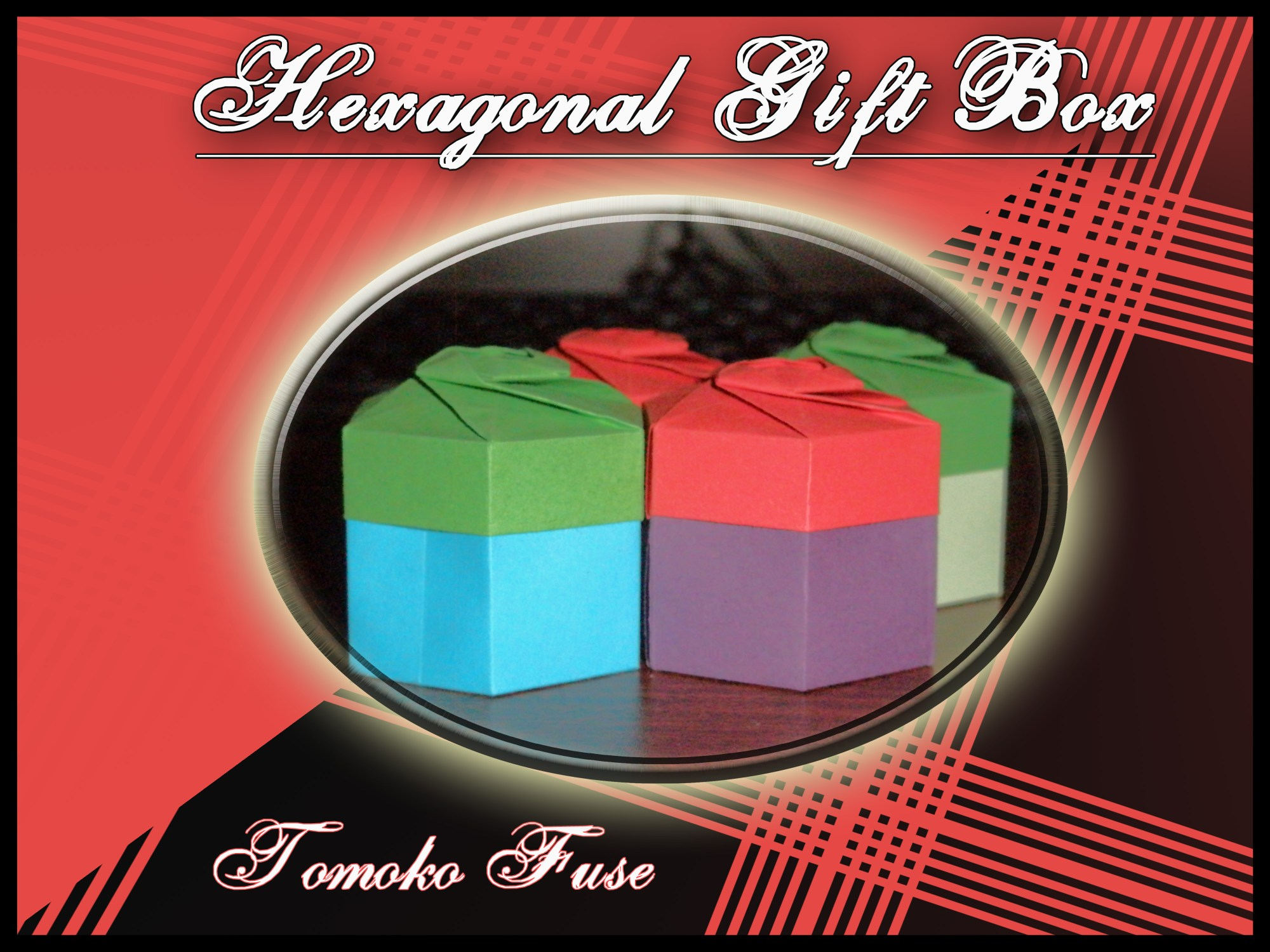 hight resolution of hexagonal gift box