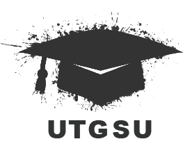 The UTGSU Logo of a graduation cap with 'UTGSU' underneath